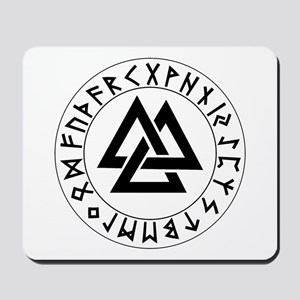 Triple Triangle Rune Shield Mousepad