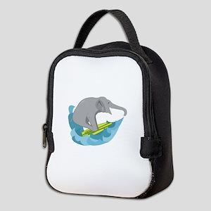 Elephant Surfer Neoprene Lunch Bag