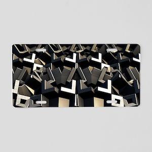 Granular Aluminum License Plate
