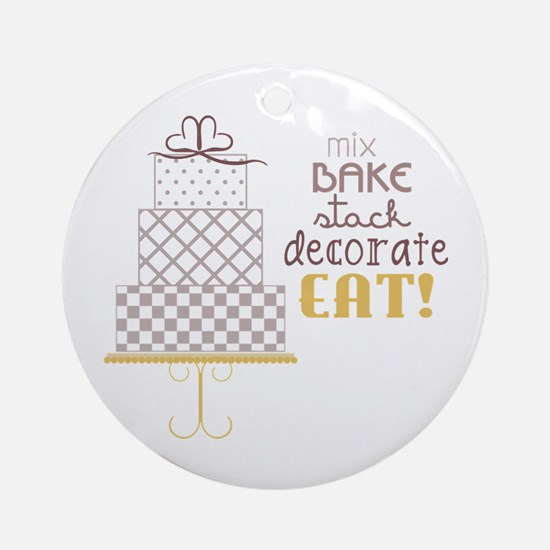 Cake Saying Ornament (Round)