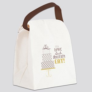 Cake Saying Canvas Lunch Bag