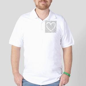 I love you Golf Shirt