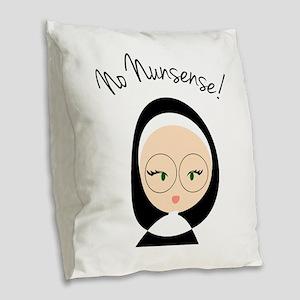 No Nunsense Burlap Throw Pillow