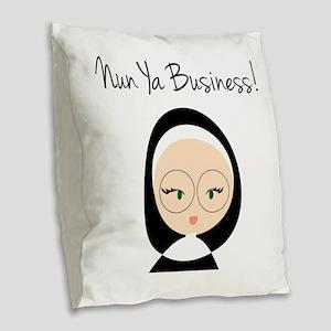Nun Ya Business Burlap Throw Pillow