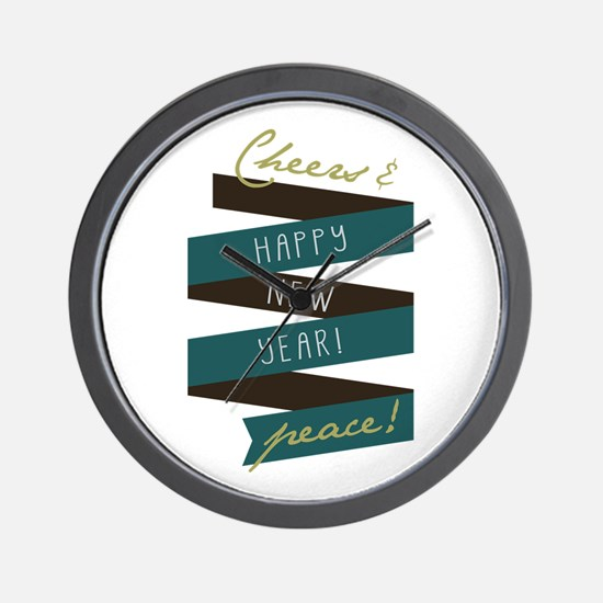 Cheers And Peace Wall Clock