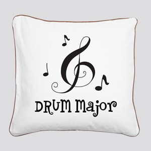 Drum Major Marching Band Square Canvas Pillow