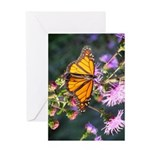 Monarch Butterfly on Purple Milkweed Greeting Card