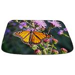 Monarch Butterfly on Purple Milkweed Bathmat