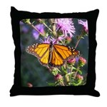 Monarch Butterfly on Purple Milkweed Throw Pillow