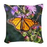 Monarch Butterfly on Purple Milkweed Woven Throw P