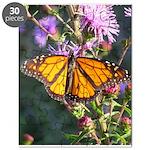 Monarch Butterfly on Purple Milkweed Puzzle