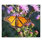 Monarch Butterfly on Purple Milkweed King Duvet