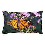Monarch Butterfly on Purple Milkweed Pillow Case