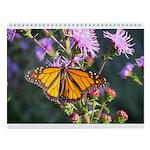Monarch Butterfly on Purple Milkweed Wall Calendar