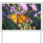 Monarch Butterfly on Purple Milkweed Yard Sign