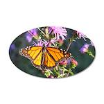Monarch Butterfly on Purple Milkweed Wall Decal