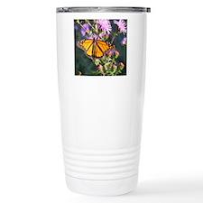 Monarch Butterfly on Purple Milkweed Travel Mug