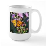 Monarch Butterfly on Purple Milkweed Mugs
