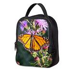 Monarch Butterfly on Purple Milkweed Neoprene Lunc