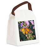 Monarch Butterfly on Purple Milkweed Canvas Lunch