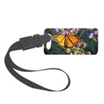 Monarch Butterfly on Purple Milkweed Luggage Tag