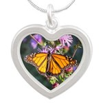 Monarch Butterfly on Purple Milkweed Necklaces