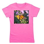 Monarch Butterfly on Purple Milkweed Girl's Tee