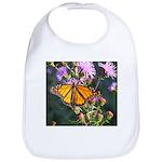 Monarch Butterfly on Purple Milkweed Bib