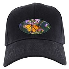 Monarch Butterfly on Purple Milkweed Baseball Hat