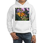Monarch Butterfly on Purple Milkweed Hoodie