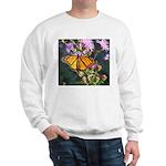 Monarch Butterfly on Purple Milkweed Sweatshirt