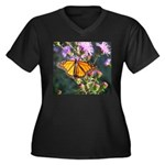 Monarch Butterfly on Purple Milkweed Plus Size T-S