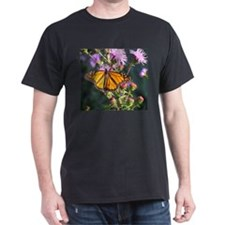 Monarch Butterfly on Purple Milkweed T-Shirt