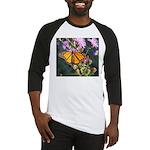 Monarch Butterfly on Purple Milkweed Baseball Jers