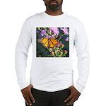 Monarch Butterfly on Purple Milkweed Long Sleeve T