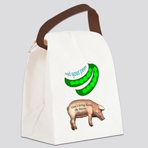 Eat Your Peas Canvas Lunch Bag
