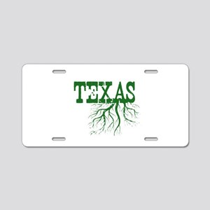 Texas Roots Aluminum License Plate
