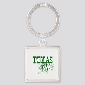 Texas Roots Square Keychain