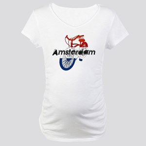 Amsterdam Bicycle Maternity T-Shirt