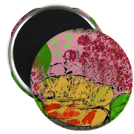 Plants and Fish Bowl Magnet