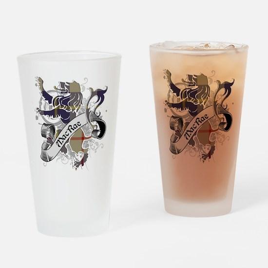 MacRae Tartan Lion Drinking Glass