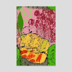 Plants and Fish Bowl Mini Poster Print