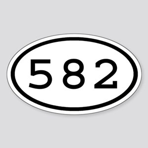 582 Oval Oval Sticker