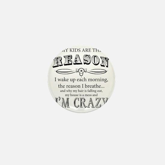 Reason I'm Crazy Mini Button