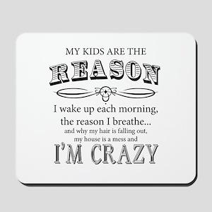 Reason I'm Crazy Mousepad