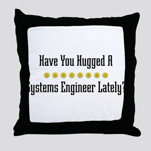 Hugged Systems Engineer Throw Pillow