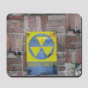 Fallout Shelter Sign Mousepad
