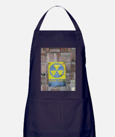 Fallout Shelter Sign Apron (dark)
