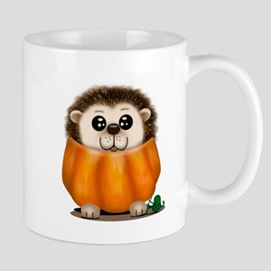 Baby Hedgehog Pumpkin Mugs