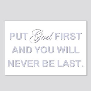 PUT GOD FIRST Postcards (Package of 8)